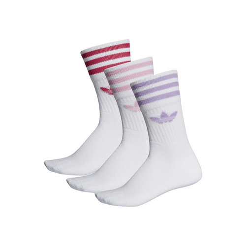 Mid Cut Crew Sock White Purglo  ED1130