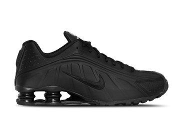 Nike Shox R4 Black Black Black White 104265 044