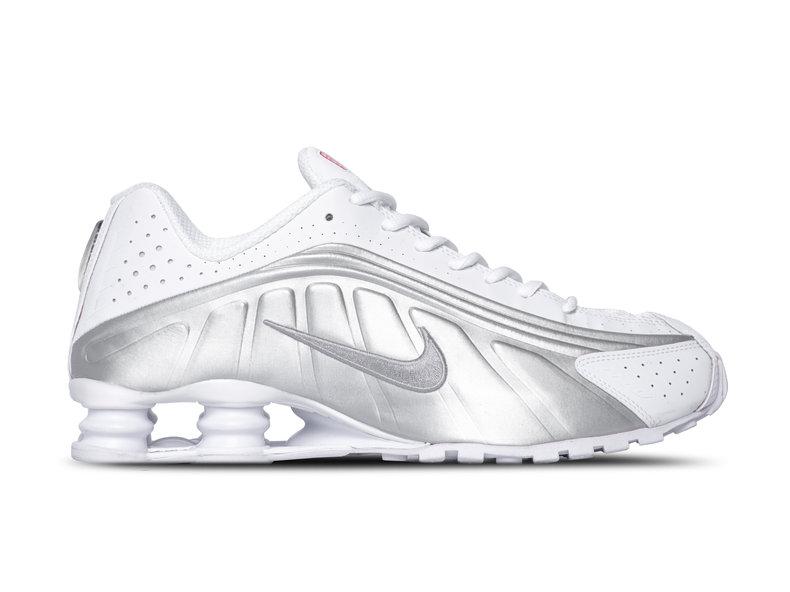 sports shoes 69b37 802c0 Shox R4 White Metallic Silver 104265 131
