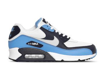 Nike Air Max 90 Essential White Pure Platinum University Blue AJ1285 105