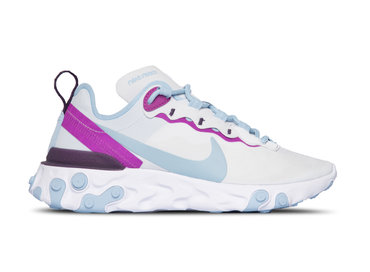 Nike W React Element Football Grey Psychic Purple BQ2728 008