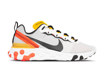 Nike React Element 55 White Black Bright Crimson BQ6166 102