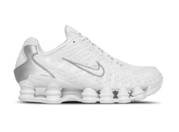 Nike Shox TL White White Metallic Silver Max Orange AV3595 100