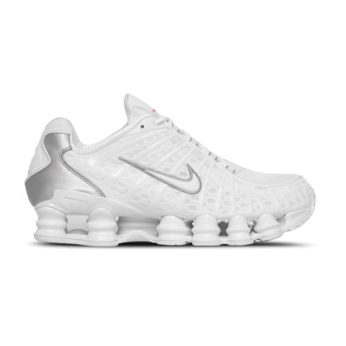 Shox TL White White Metallic Silver Max Orange AV3595 100
