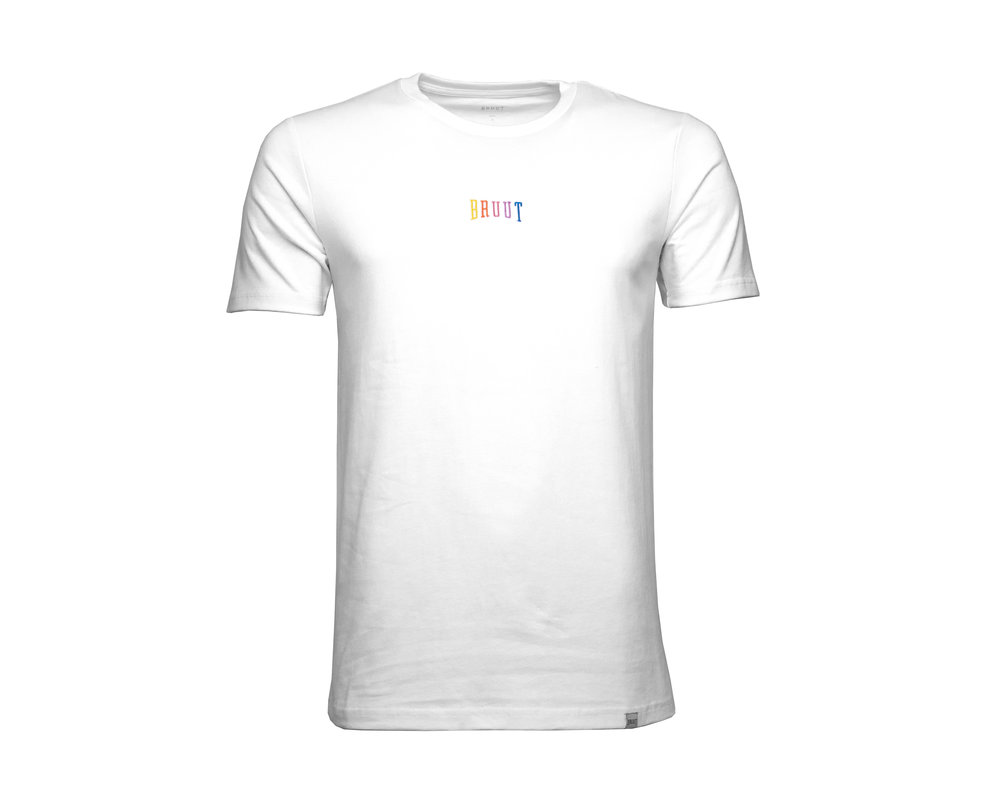 Bruut Pride Embroided Logo Tee White HFD027