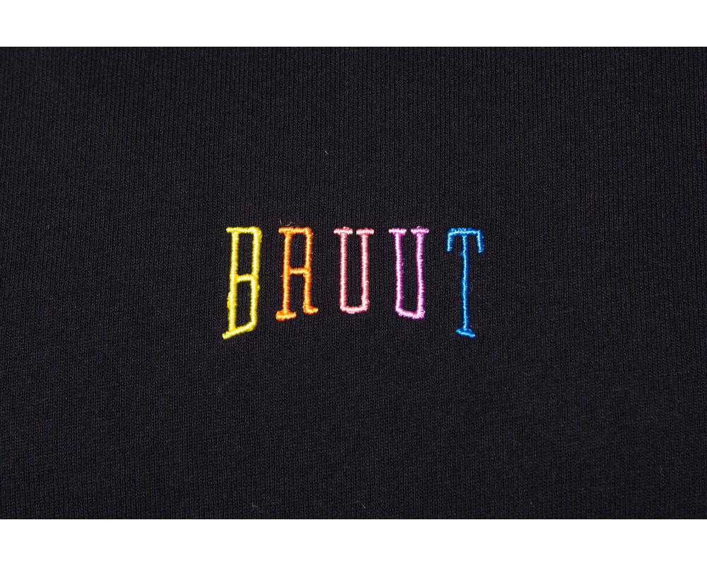 Bruut Pride Embroided Logo Tee Black HFD028