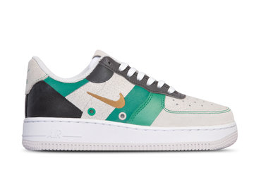 Nike Air Force 1 '07 Prm 1 White Metallic Gold Black Vast grey CI0065 100