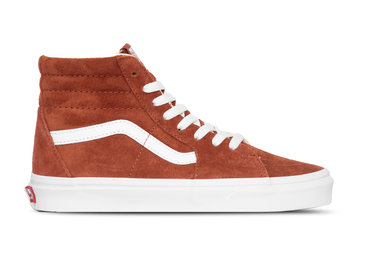 Vans Sk8 Hi Pig Suede Burnt Brick True White  VN0A4BV6V751