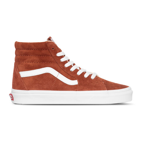 Sk8 Hi Pig Suede Burnt Brick True White  VN0A4BV6V751