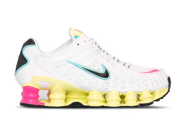 Nike Shox TL White Black Luminous Green Bright Violet AR3566 102