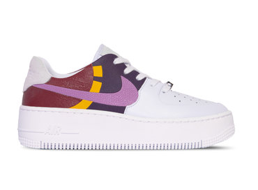Nike Air force 1 Sage Low LX Football Grey Dark Orchid Team Red BV1976 003