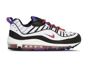 Nike Air Max 98 White Black Psychic Purple 640744 110