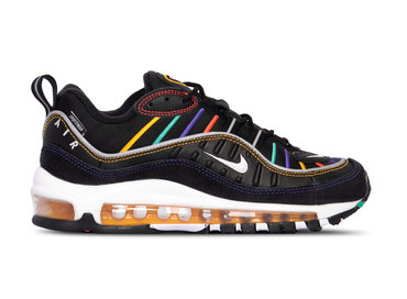 Nike Air Max 98 Premium Black Flash Crimson Kinetic Green BV0989 023