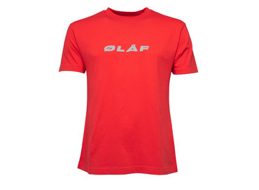 Olaf Hussein Reflective Italic Tee Red 19 0034