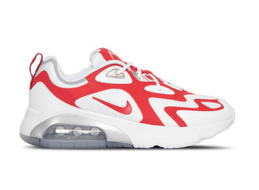 Nike Air Max 200 White University Red Metallic Silver AQ2568 100