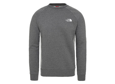 The North Face Raglan Redbox Crew TNF Medium Grey T93RZ2DYY