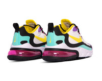 Nike Air Max 270 React White Dynamic Yellow Black Bright Violet AO4971 101