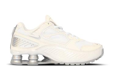 Nike Shox Enigma 9000  Phantom Metallic Silver White Pale Ivory BQ9001 003