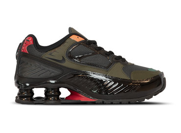 Nike Shox Enigma 9000  Black Antracite Cargo Khaki Gym Red BQ9001 002