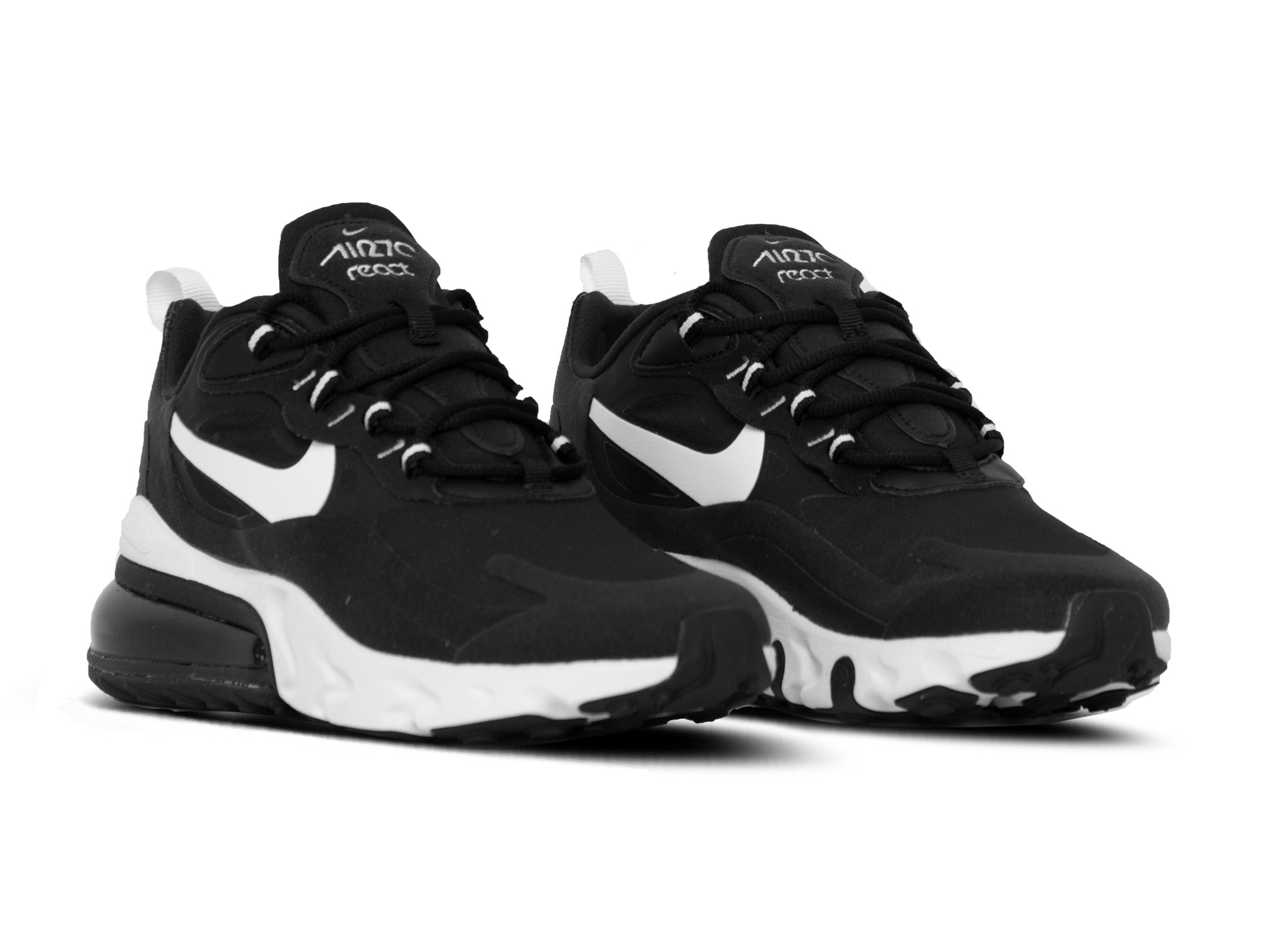 Nike Air Max 270 React Black White Black AO4971 004