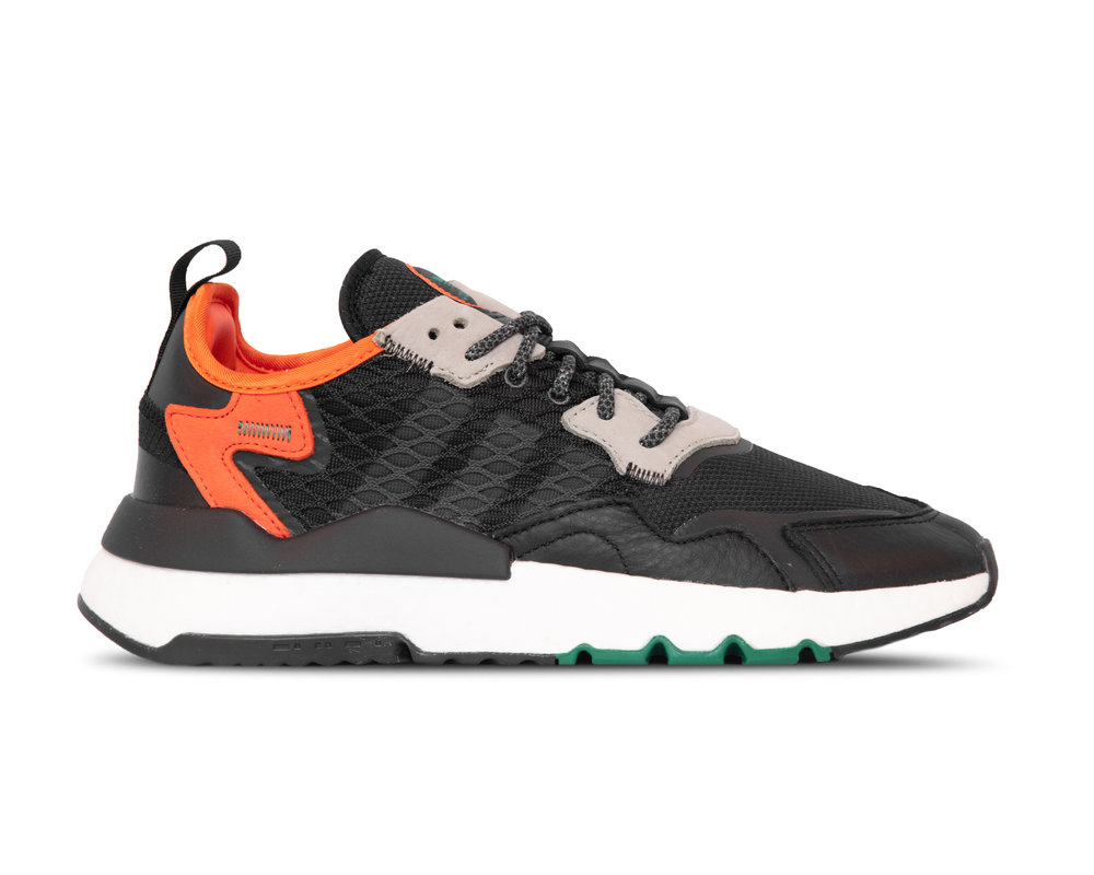 Adidas Nite Jogger  Core Black Grey Six Orange EE5549