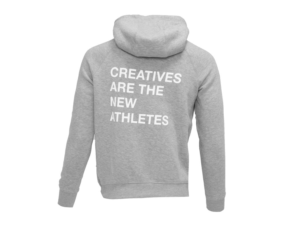 The New Originals Creatives Are The New Athletes Hoodie  Grey