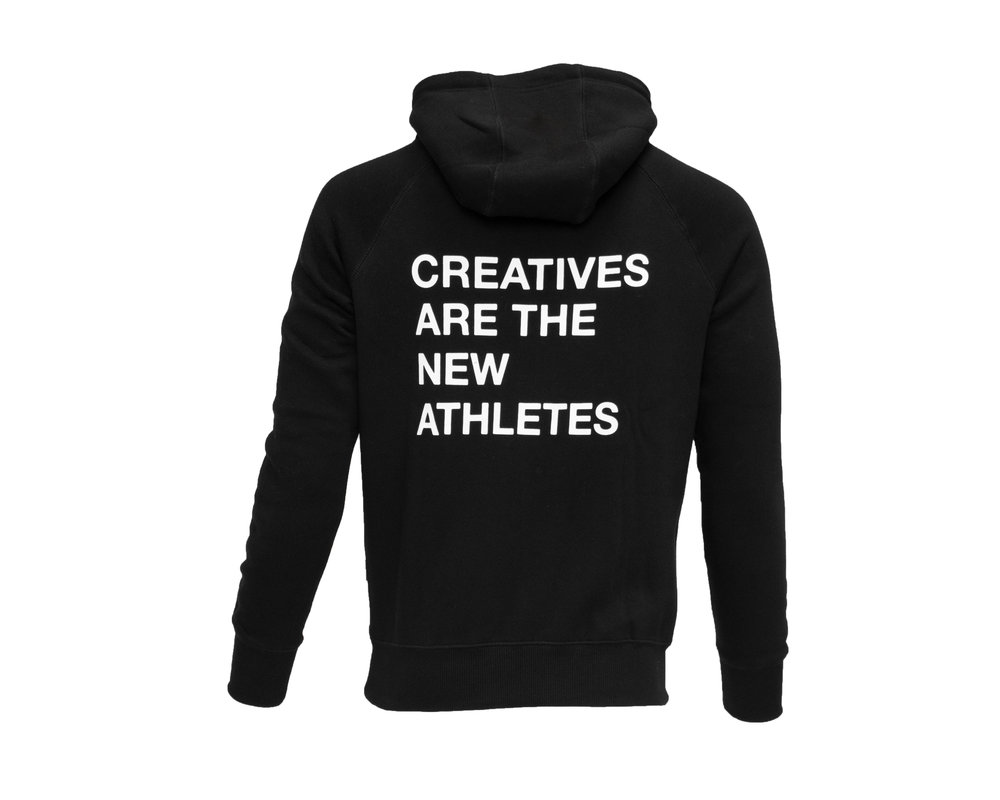 The New Originals Creatives Are The New Athletes Hoodie  Black