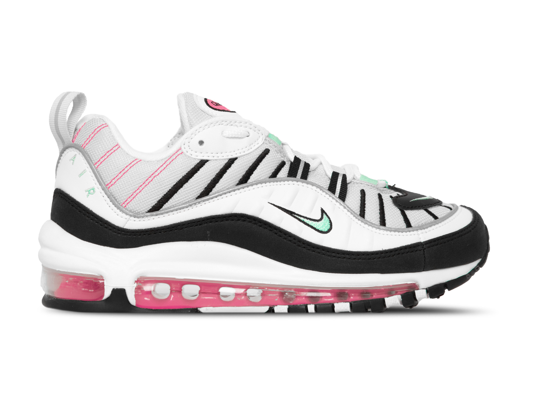 W Air Max 98 Pure Platinum Aurora Green Black AH6799 065