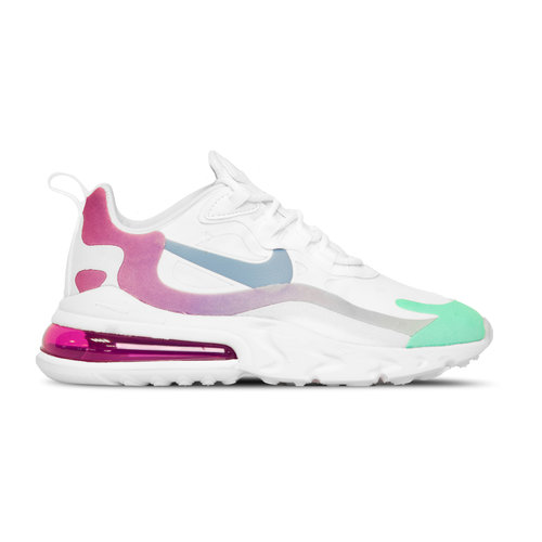 Air Max 270 React  White Light Blue Aurora Green  AT6174 102
