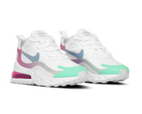 Nike Air Max 270 React  White Light Blue Aurora Green  AT6174 102