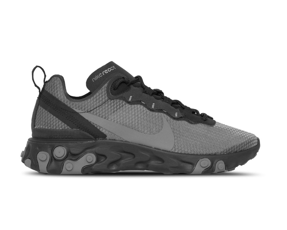 Nike React Element 55 SE  Black Dark Grey  CI3831 001
