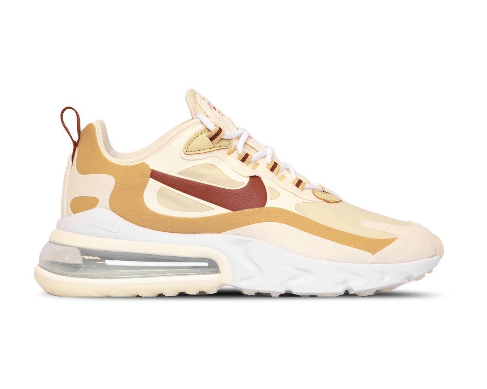 Nike Air Max 270 React  Team Gold Cinnamon Club Gold Pale Ivory  AT6174 700
