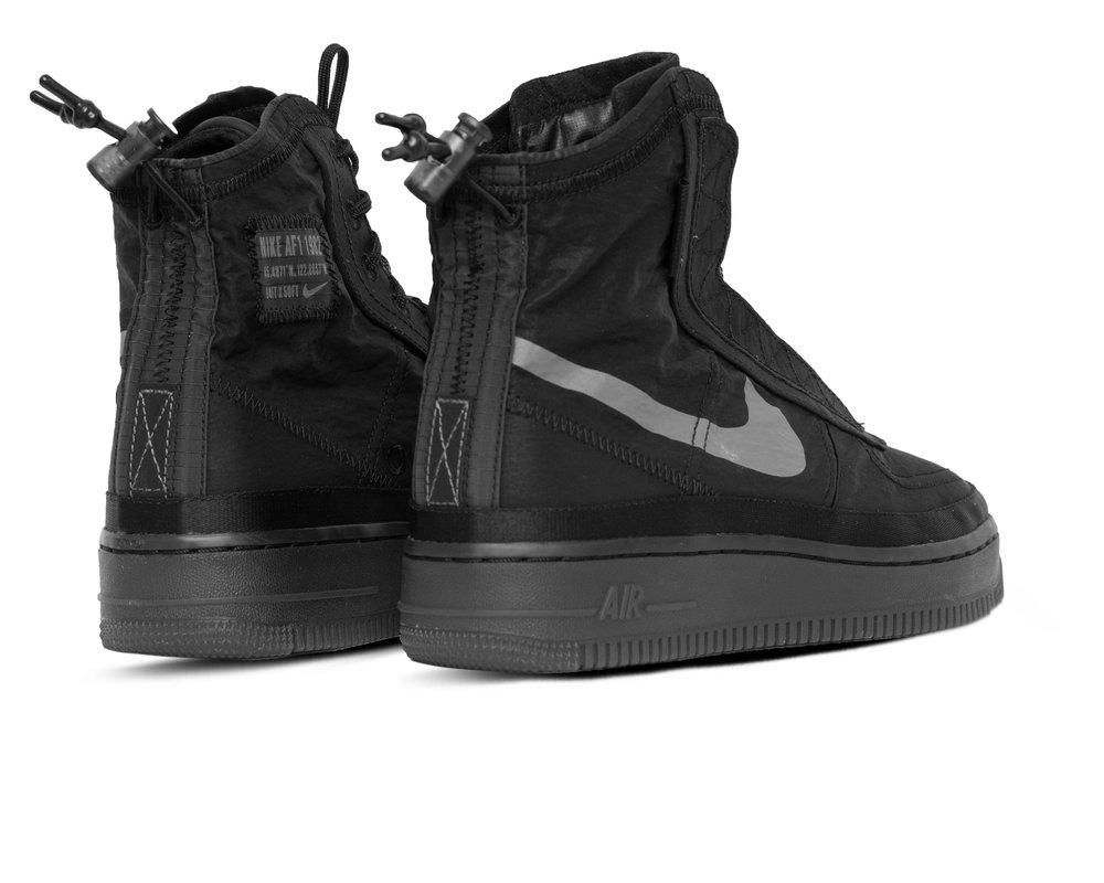 Nike Air Force 1  Shell Black Dark Grey Black  BQ6096 001
