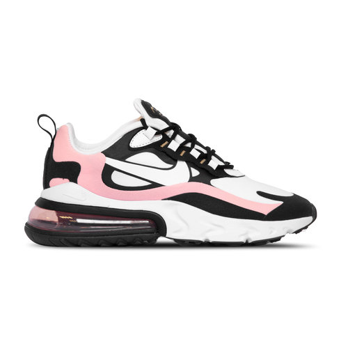 Air Max 270 React  Black White Bleached Coral Metallic Gold  AT6174 005