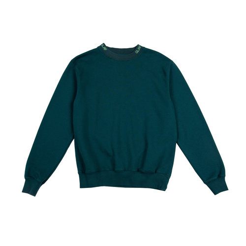 Branded Rib Crewneck Dark Green 19 0044