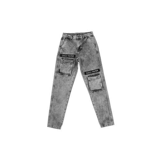 Cargo Pants  Acid Denim Black 191337