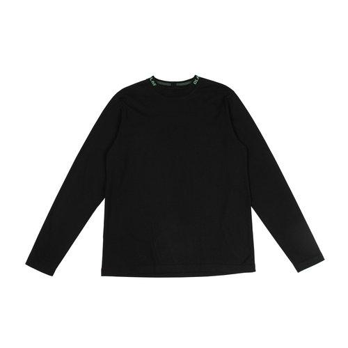 Branded Rib Longsleeve Black 19 0006