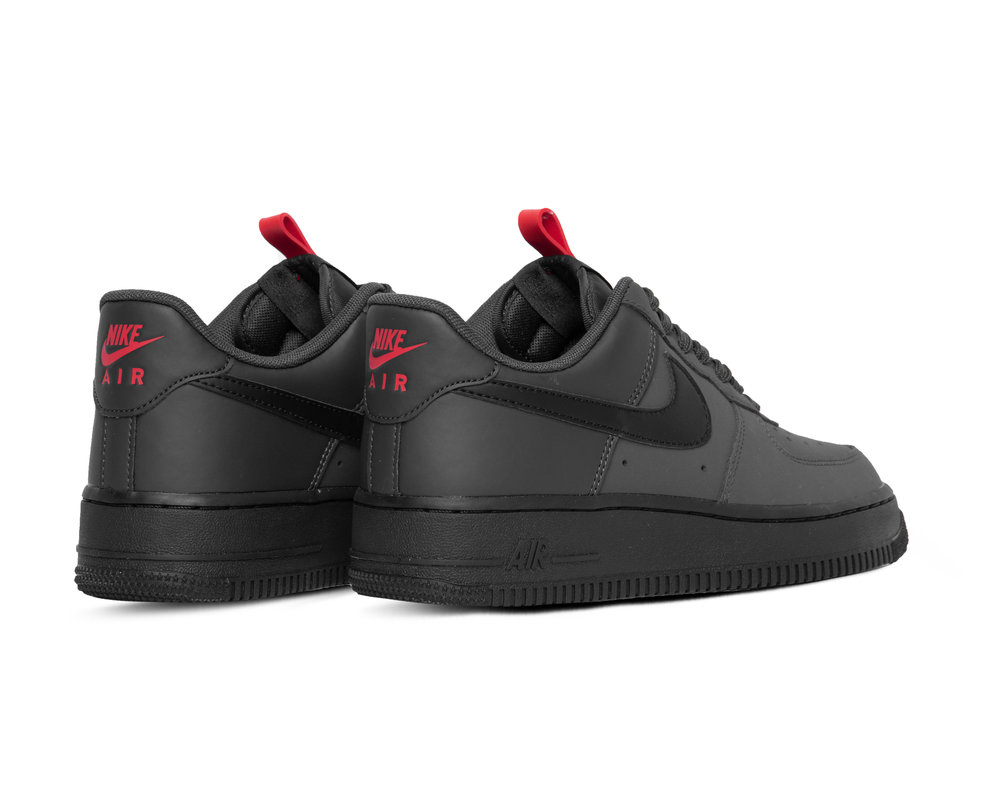 Nike Air Force 1 07 Anthracite Black University Red Black  BQ4326 001