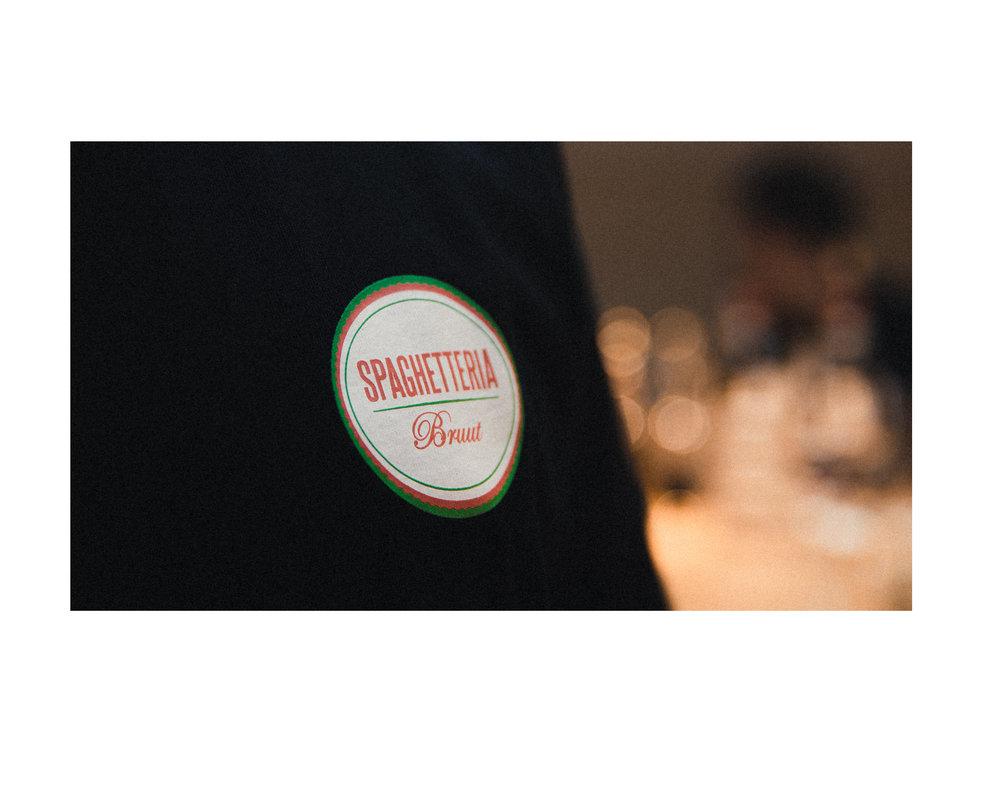 Bruut x Spaghetteria Hoodie Black HFD034