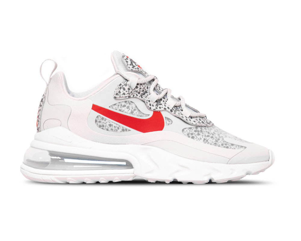 Nike Air Max 270 React  Neutral Grey University Red  CT2535 001