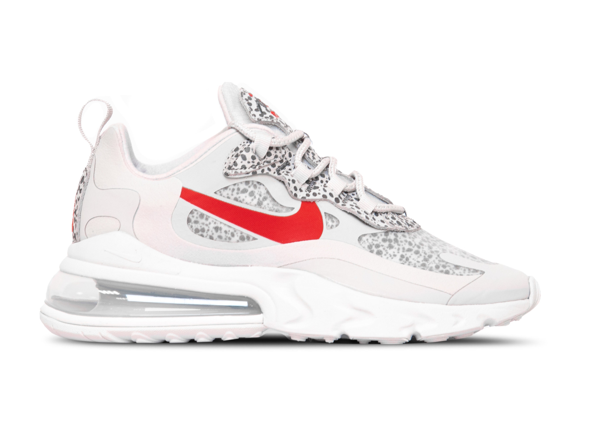 Nike Air Max 270 React Neutral Grey University Red CT2535