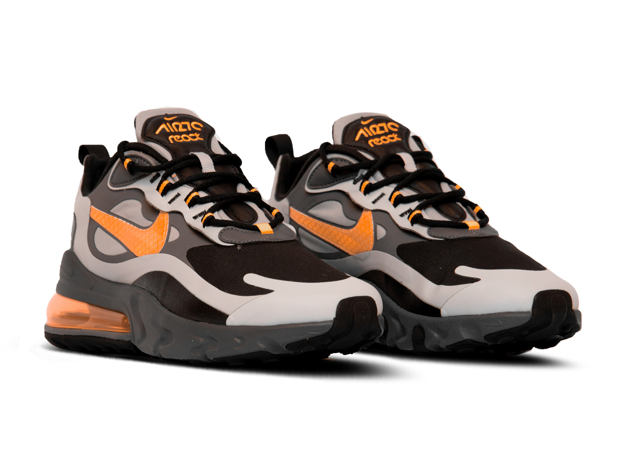 air max 270 react wolf grey total orange black