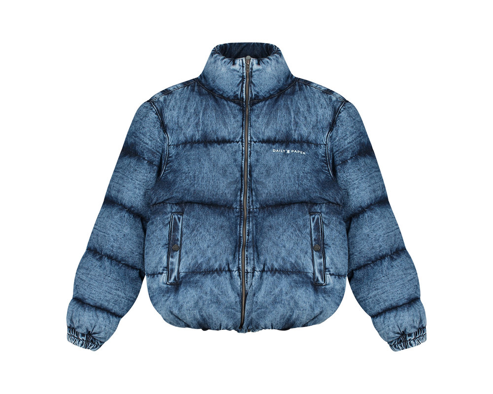 Daily Paper Guffer Jacket Blue Denim Acid Wash 19F1OU11 01