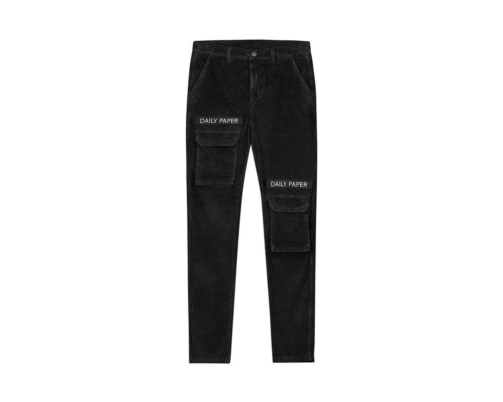 Daily Paper Cargo Pants Corduroy Black 19H1PA02 04