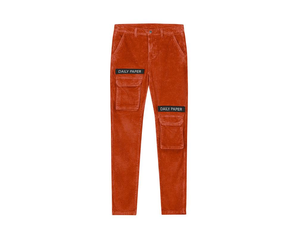 Daily Paper Cargo Pants Corduroy Orange 19H1PA02 03