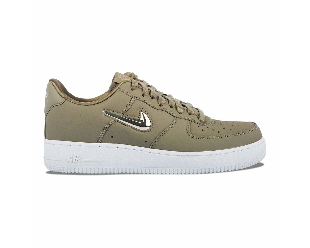 Nike WMNS Air Force 1 '07 PRM LX Neutral Olive Metallic Gold Star AO3814 200