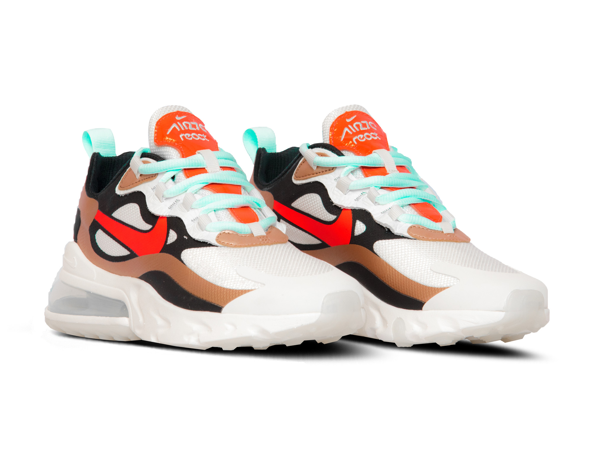Air Max 270 React Sail Black Mtlc Red Bronze Pure Platinum
