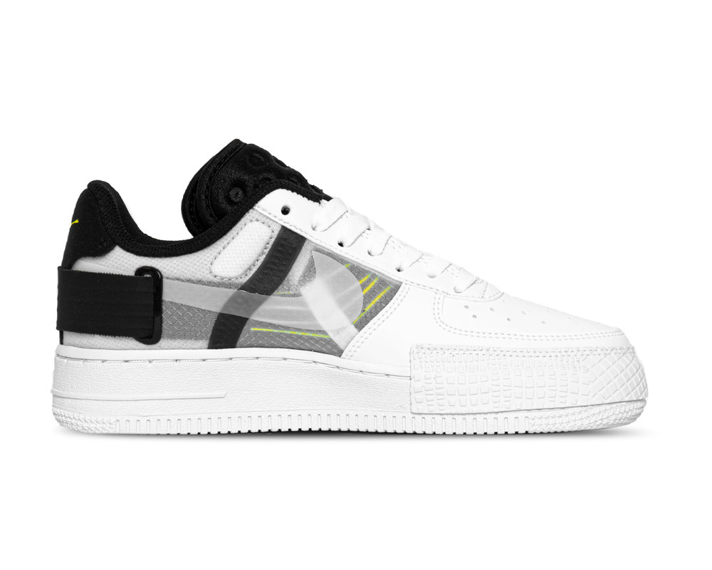 Nike Air Force 1 Type White Volt Black White AT7859 101