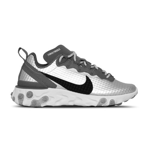 React Element 55  Premium Metallic Silver Black Pure Platinum  CI3835 001