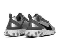Nike React Element 55  Premium Metallic Silver Black Pure Platinum  CI3835 001